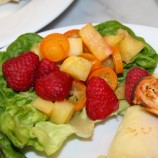 Ginger-Spiked Kumquat-Pineapple-Raspberry Salad