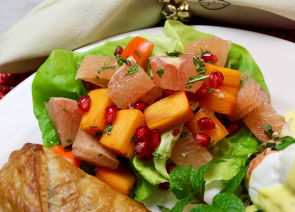 Grapefruit, Persimmon & Pomegranate Salad Cups